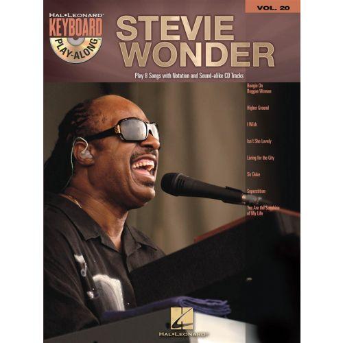 HAL LEONARD KEYBOARD PLAY ALONG VOLUME 20 STEVIE WONDER + CD - KEYBOARD