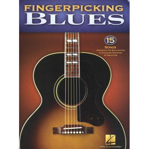 HAL LEONARD FINGERPICKING BLUES 15 SONGS ARR FOR SOLO GUITAR - GUITAR TAB