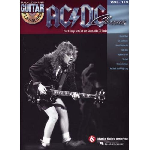 HAL LEONARD AC/DC - GUITAR PLAY ALONG VOL.119 + CD - AC/DC CLASSICS - GUITARE TAB