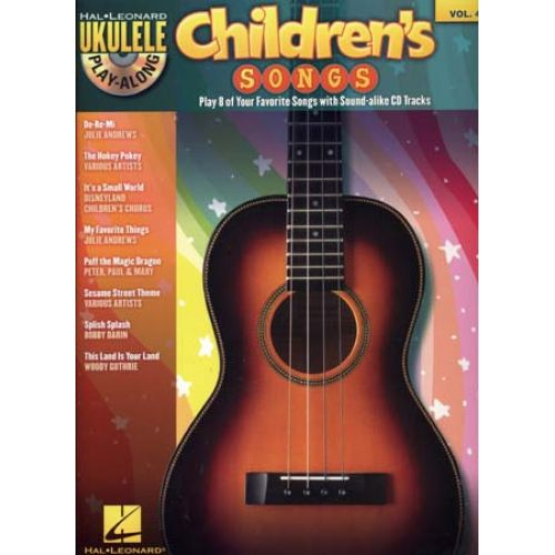HAL LEONARD UKULELE PLAY ALONG VOL.VOL.4 CHILDREN'S SONGS + CD