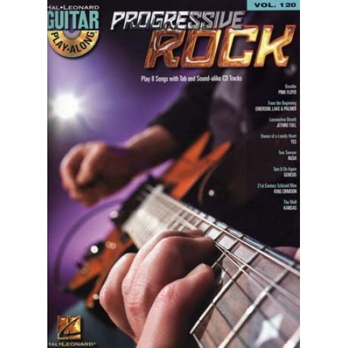 HAL LEONARD GUITAR PLAY ALONG VOL.120 - PROGRESSIVE ROCK + CD - GUITAR TAB