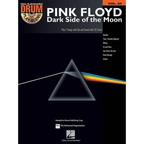 HAL LEONARD DRUM PLAY ALONG VOL.24 - PINK FLOYD - THE DARK SIDE OF THE MOON + CD