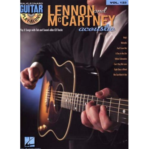 HAL LEONARD LENNON & McCARTNEY - GUITAR PLAY ALONG VOL.123 + CD - GUITARE TAB