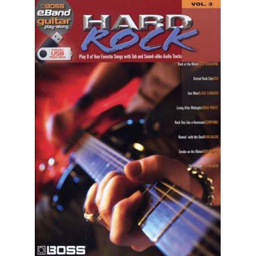 HAL LEONARD BOSS EBAND GUITAR PLAY ALONG VOL.3 - HARD ROCK + USB - GUITAR TAB