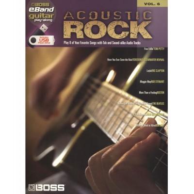 HAL LEONARD BOSS EBAND GUITAR PLAY ALONG VOL.6 - ACOUSTIC ROCK + USB - GUITAR TAB