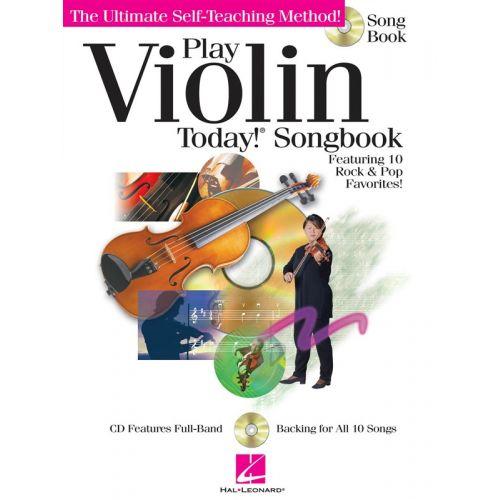 HAL LEONARD PLAY VIOLIN TODAY! SONGBOOK + CD - VIOLIN