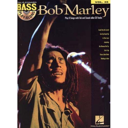 HAL LEONARD MARLEY BOB - BASS PLAY ALONG VOL.35 + CD - BASS TAB