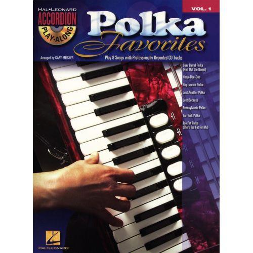 HAL LEONARD ACCORDION PLAY ALONG VOLUME 1 POLKA FAVORITES ACCORDION + CD - ACCORDION