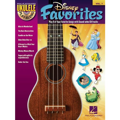 HAL LEONARD UKULELE PLAY ALONG VOLUME 7 DISNEY FAVORITES + CD - UKULELE