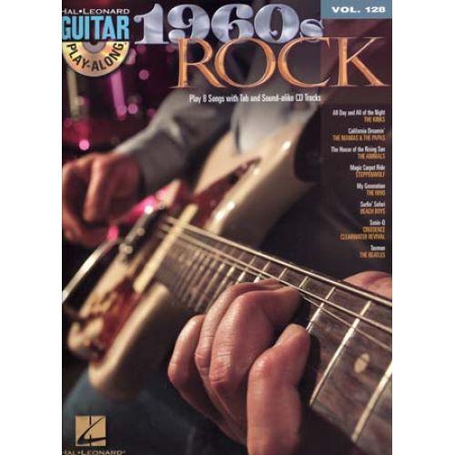 HAL LEONARD GUITAR PLAY ALONG VOL.128 - 1960'S ROCK + CD - GUITAR TAB