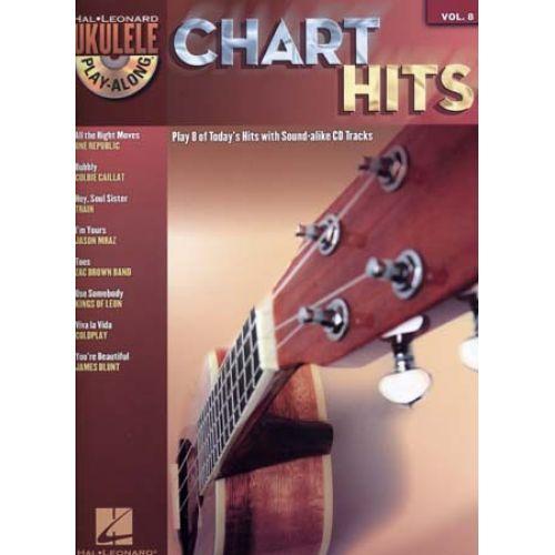 HAL LEONARD UKULELE PLAY ALONG VOL.8 - CHART HITS + CD