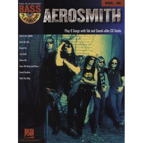 HAL LEONARD BASS PLAY ALONG VOLUME 36 AEROSMITH BASS GUITAR + CD - BASS GUITAR TAB