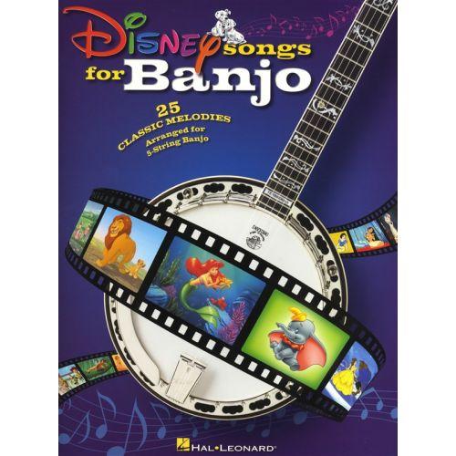 HAL LEONARD DISNEY SONGS FOR BANJO - BANJO