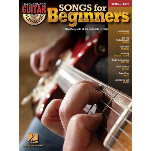HAL LEONARD GUITAR PLAY-ALONG VOLUME 101 - SONGS FOR BEGINNERS - GUITAR