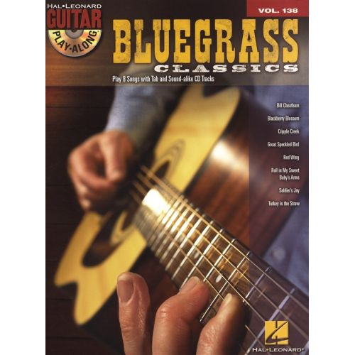 HAL LEONARD GUITAR PLAY ALONG VOLUME 138 BLUEGRASS CLASSICS + CD - GUITAR TAB