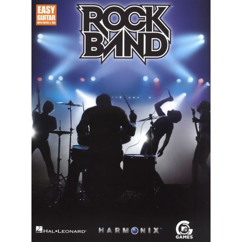 HAL LEONARD ROCK BAND EASY GUITAR WITH NOTES AND - GUITAR