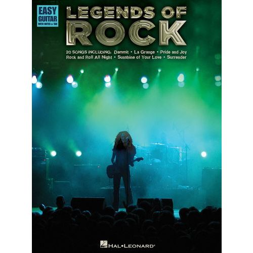 HAL LEONARD LEGENDS OF ROCK EASY - GUITAR TAB