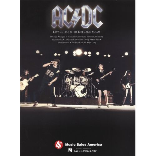 HAL LEONARD AC/DC EASY GUITAR WITH RIFFS AND SOLOS - GUITAR