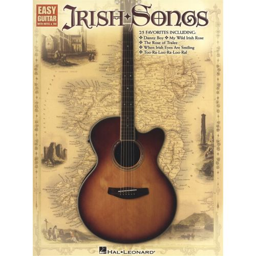 HAL LEONARD IRISH SONGS FOR EASY GUITAR - GUITAR TAB