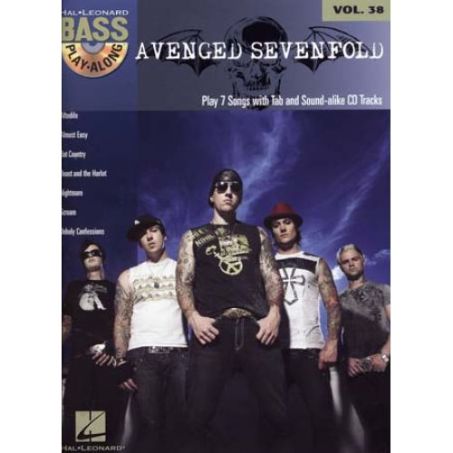 HAL LEONARD BASS PLAY ALONG VOL.38 AVENGED SEVENFOLD + CD