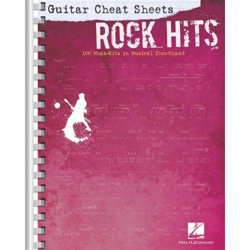 HAL LEONARD GUITAR CHEAT SHEETS - ROCK HITS - GUITAR TAB