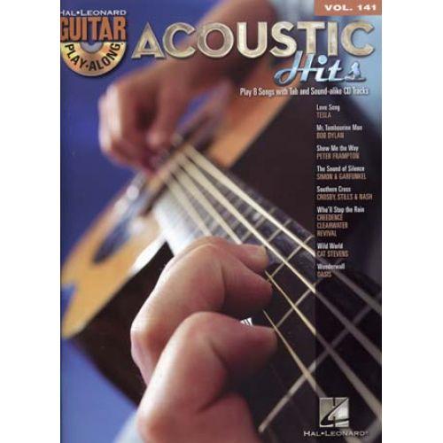 HAL LEONARD GUITAR PLAY ALONG VOL.141 ACOUSTIC HITS + CD