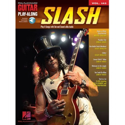 HAL LEONARD GUITAR PLAY ALONG VOLUME 143 - SLASH - GUITAR + AUDIO
