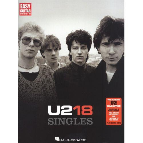 HAL LEONARD U2 18 SINGLES EASY GUITAR - GUITAR TAB
