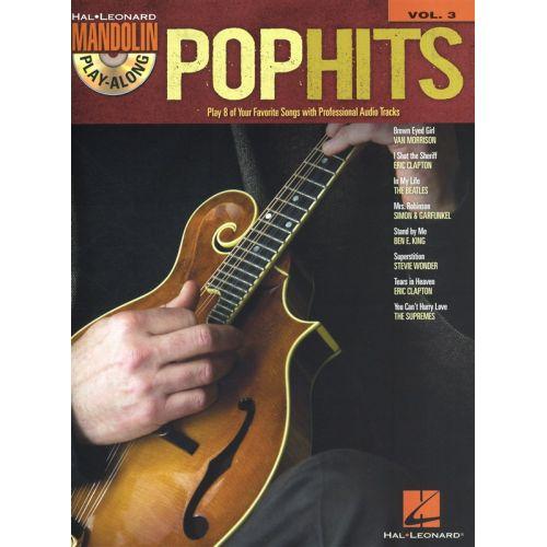 HAL LEONARD MANDOLIN PLAY ALONG VOLUME 3 POP HITS MAND + CD - MANDOLIN