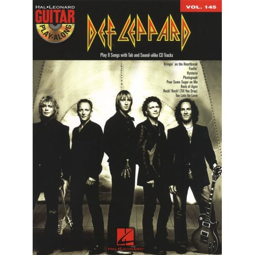 HAL LEONARD GUITAR PLAY ALONG VOLUME 145 DEF LEPPARD TAB + CD - GUITAR