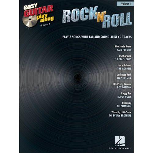 HAL LEONARD EASY GUITAR PLAY-ALONG VOLUME 4 ROCK N ROLL + CD - GUITAR TAB