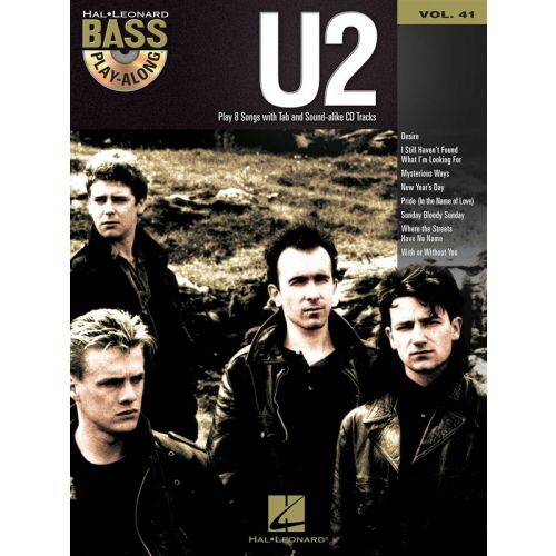HAL LEONARD BASS PLAY ALONG VOLUME 41 U2 + CD - BASS GUITAR