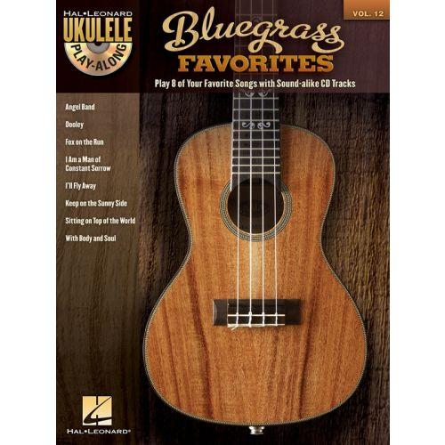 HAL LEONARD UKULELE PLAY ALONG VOLUME 12 BLUEGRASS FAVORITES + CD - UKULELE