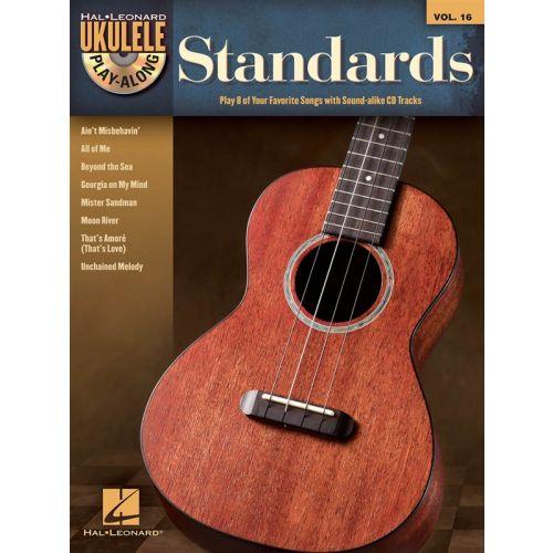 HAL LEONARD UKULELE PLAY ALONG VOLUME 16 STANDARDS + CD - UKULELE