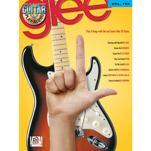 HAL LEONARD GUITAR PLAY ALONG VOLUME 154 GLEE + CD - GUITAR TAB
