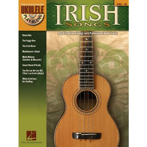 HAL LEONARD UKULELE PLAY ALONG VOLUME 18 IRISH SONGS + CD - UKULELE