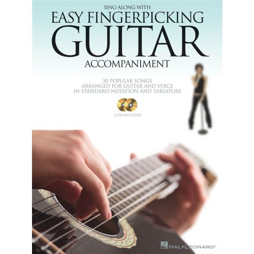 HAL LEONARD SING ALONG WITH EASY FINGERPICKING GUITAR ACCOMPANIMENT + CD - GUITAR TAB