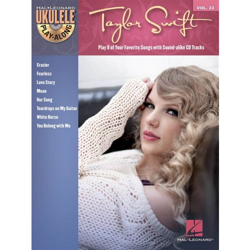HAL LEONARD UKULELE PLAY ALONG VOLUME 23 - SWIFT TAYLOR + CD - UKULELE