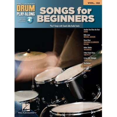 HAL LEONARD DRUM PLAY ALONG VOLUME 32 SONGS FOR BEGINNERS DRUMS + MP3 - DRUMS
