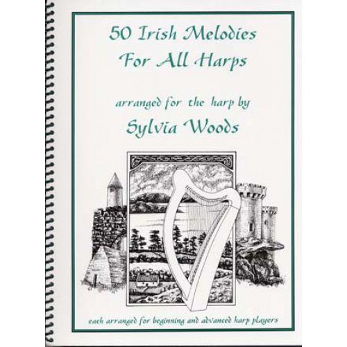 HAL LEONARD WOODS SYLVIA - 50 IRISH MELODIES - HARPE