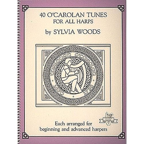 HAL LEONARD SYLVIA WOODS 40 O' CAROLAN TUNES FOR ALL HARPS - HARP