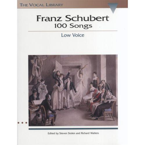 HAL LEONARD FRANZ SCHUBERT 100 SONGS LOW VOICE - LOW VOICE