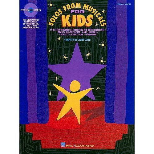 HAL LEONARD SOLOS FROM MUSICALS FOR KIDS VOCAL COLLECTION + CD - VOICE
