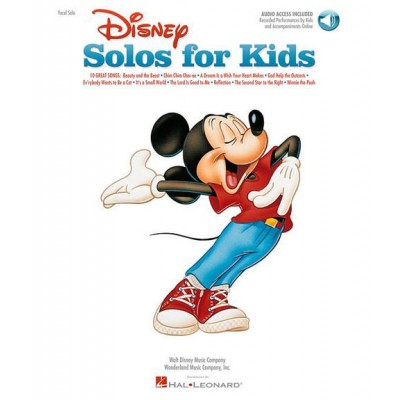 HAL LEONARD DISNEY SOLOS FOR KIDS + MP3 - PVG