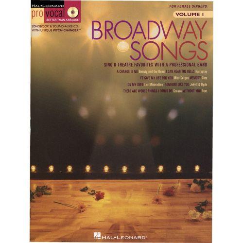 HAL LEONARD BROADWAY SONGS - PRO VOCAL WOMEN'S EDITION VOLUME 1 - VOICE