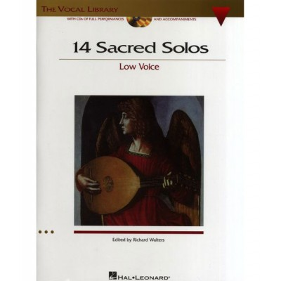 HAL LEONARD 14 SACRED SOLOS LOW VOICE + MP3 - VOICE