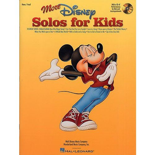 HAL LEONARD MORE DISNEY SOLOS FOR KIDS-MUSIC BOOK WITH CD - PVG