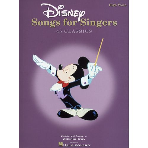 HAL LEONARD DISNEY SONGS FOR SINGERS - HIGH VOICE - FILM AND TV