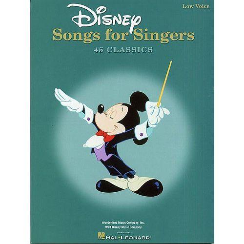 HAL LEONARD WALT DISNEY MUSIC COMPANY - DISNEY SONGS FOR SINGERS - LOW VOICE - PVG