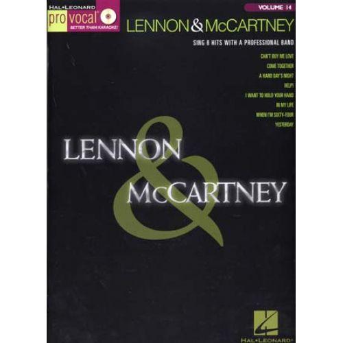 HAL LEONARD PRO VOCAL VOL.14 LENNON & MCCARTNEY + CD